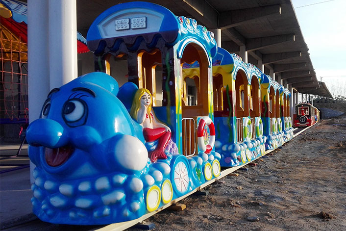 Cartoon Track Train